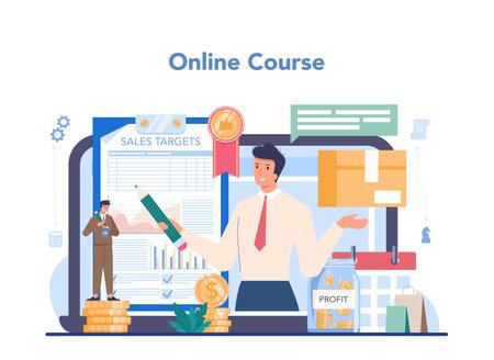 Commercial director online service or platform. Business