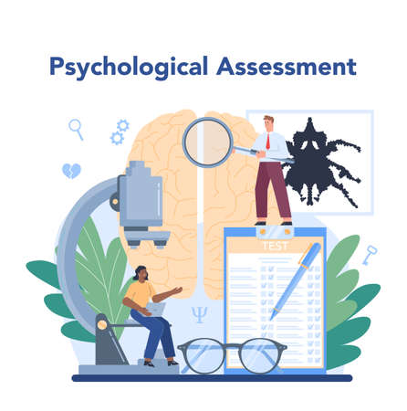 Psychiatrist concept. Mental health diagnostic. Doctor treating