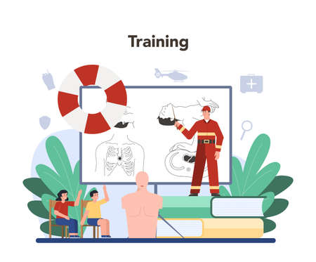 Urgency rescuer help. Ambulance lifeguard in uniform