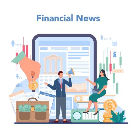 Trader, financial investment online service or platform. Stock