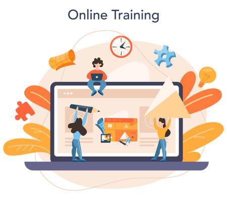 3D Printing technology online service or platform. 3D printer