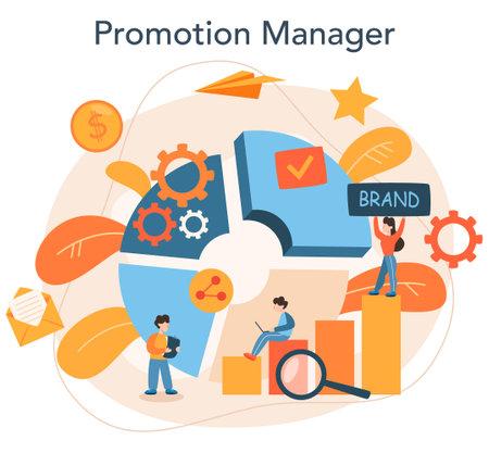 Brand manager concept. Marketing specialist create unique