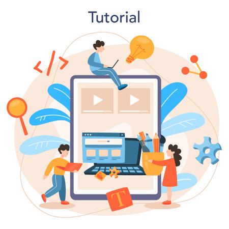 Front-end development online service or platform. Website
