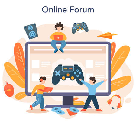 Professional gamer online service or platform. Person play on the computer