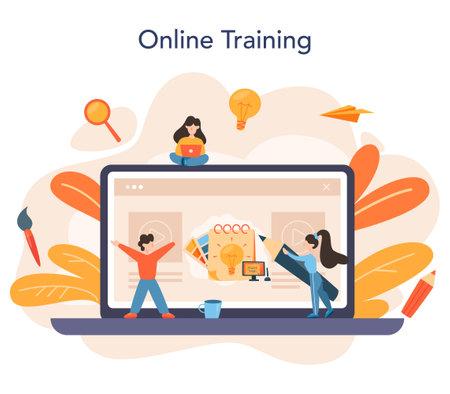 Graphic designer or digital illustrator online service or platform Illustration