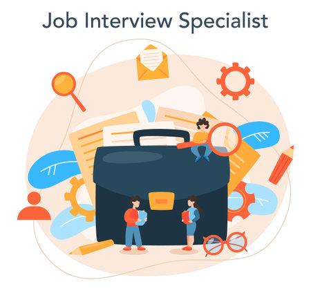 Job interview concept. Idea of employment and hiring.