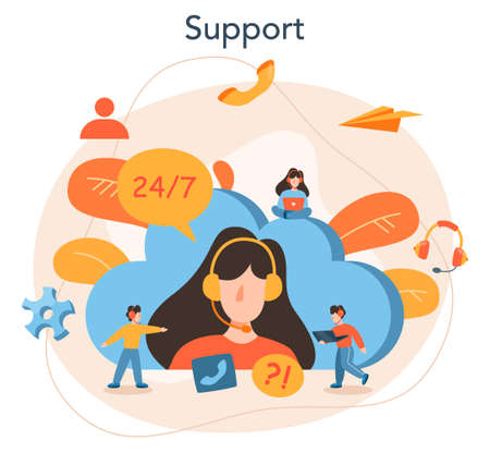 Technical support concept. Idea of customer service. Consultant support