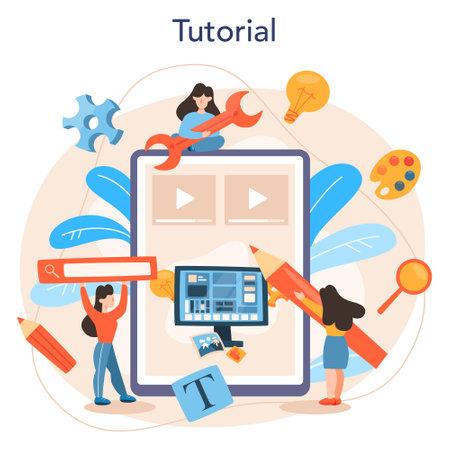 Layout designer online service or platform. Web development