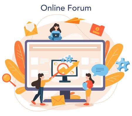 SEO optimizer online service or platform. Idea of search engine optimization