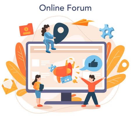 SMM specialist online service or platform. Advertising of business