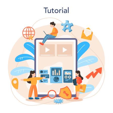 Website analyst online service or platform. Web page improvement