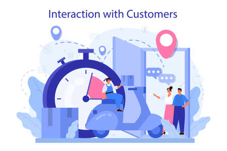 Interaction with a customer concept. Marketing technique