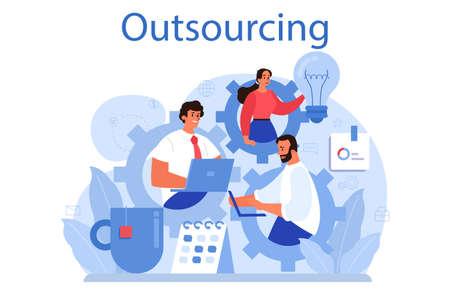 Outsourcing concept. Idea of teamwork and project delegation