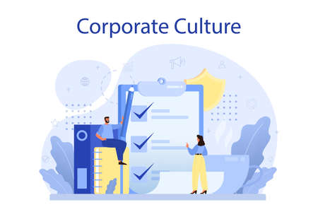 Corporate culture concept. Corporate relations. Business ethics