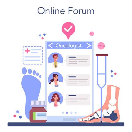 Orthopedics doctor online service or platform. Idea of joint