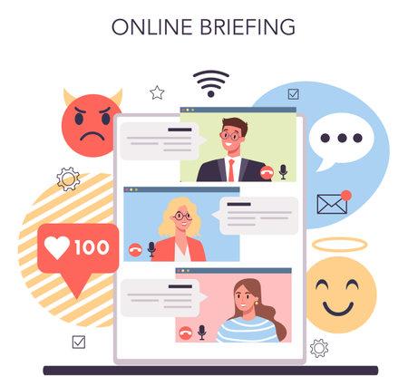 Business reputation online service or platform. Building relationship