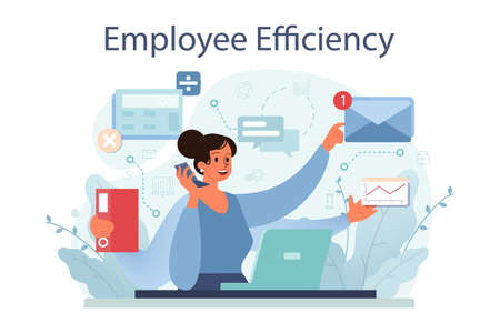 Employee efficiency concept. Business staff management for a productive