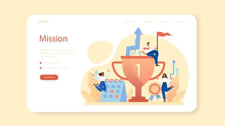 Brand mission web banner or landing page. Start up development