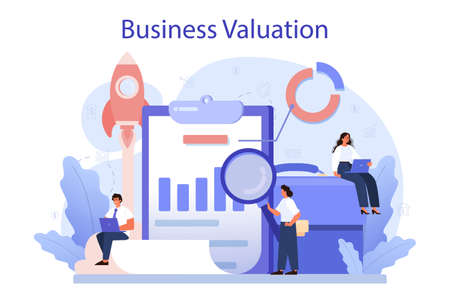 Business valuation concept. Appraisal services, selling and buying