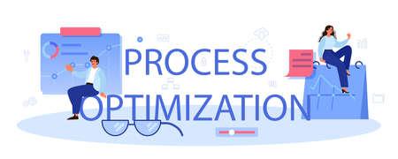 Process optimization typographic header. Idea of business improvement