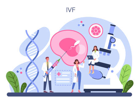 Gynecologist concept. In vitro fertilization method. Reproduction problem.