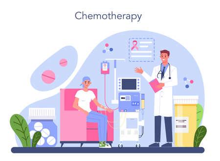 Professional oncologist. Cancer disease diagnostic and treatment Vektorové ilustrace