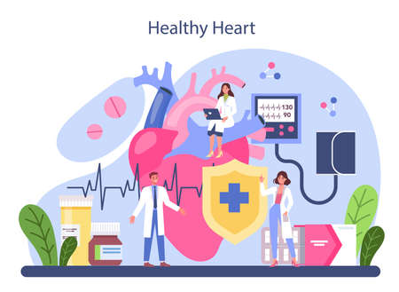 Cardiologist concept. Idea of heart care and medical diagnostic