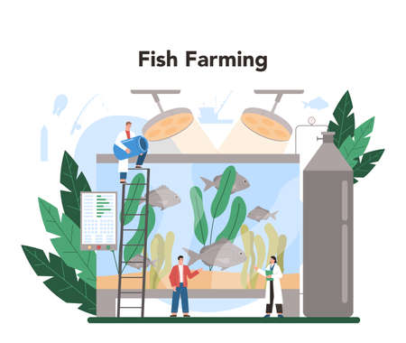Industrial fishing concept. Capture fisheries, seafood farming.