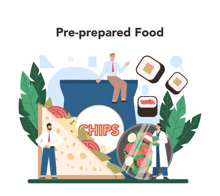 Semi-processed goods production. Frozen intermidiate food or ingredients