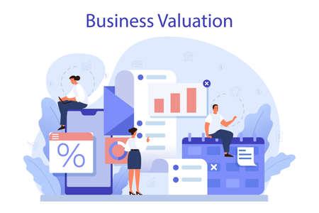 Business valuation concept. Appraisal services, selling and buying Vektoros illusztráció