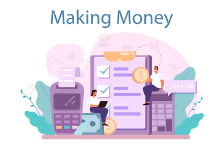 Making money concept. Idea of business development and investment.
