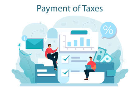 Taxes payment concept. Idea of business accounting and audit.