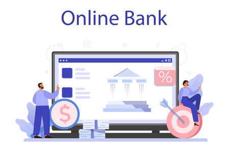 Receiving profit online service or platform. Idea of business success Vector Illustration