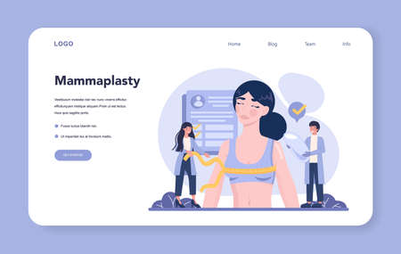 Plastic surgery web banner or landing page. Idea of body correction.