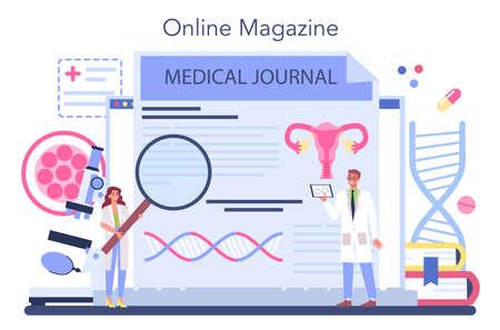 Gynecologist online service or platform. Women health doctor