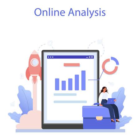 Business valuation online service or platform. Appraisal services,
