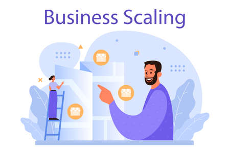 Business scaling concept. Franchise business expansion. Idea of business