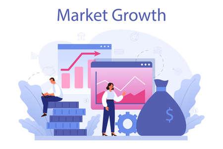 Market growth concept. Business progress. Business expansion