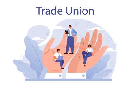 Trade union concept. Employees care idea. Employees wellbeing