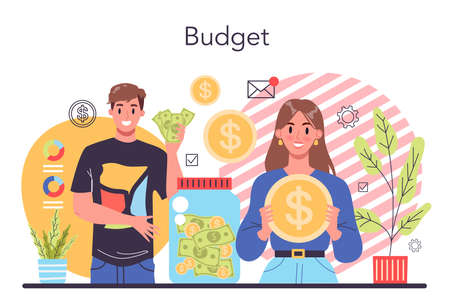 Budgeting concept. Idea of financial planning and well-being.