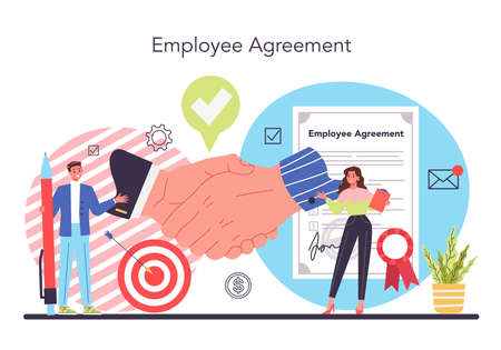 Worker responsibilities concept. Personnel management and empolyee