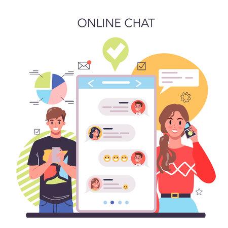 Business negotiations online service or platform. Business meeting
