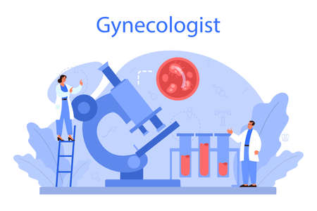 Gynecologist, reproductologist and women health concept. Human anatomy,