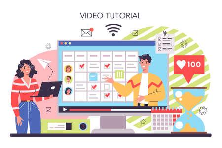 Business planning online service or platform. Setting a goal