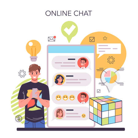 Solution online service or platform. Solving problems and finding