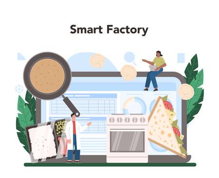 Semi-processed goods production online service or platform