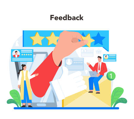 Feedback concept. Idea of customer review. Positive and negative rating
