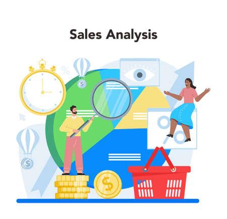 Contextual advertsing and targeting concept. Marketing campaign Ilustración de vector