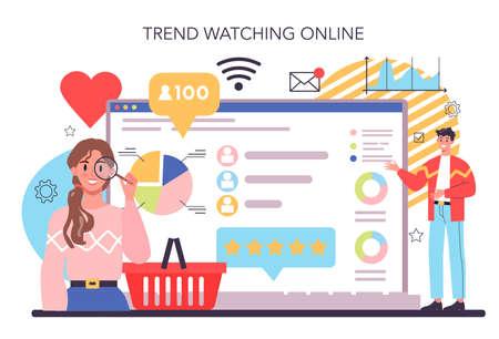 Trend watcher online service or platform. Specialist in tracking