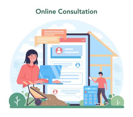 Estimator, financial consultant online service or platform